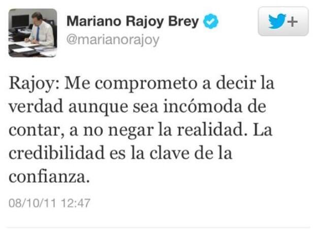 Razones para desconfiar de Rajoy (o no, allá usted) (1/4)